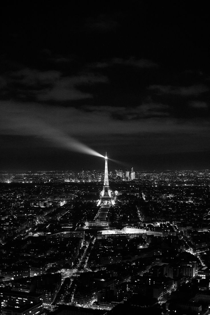 Paris, Eiffel Tower seen from Montparnasse Tower