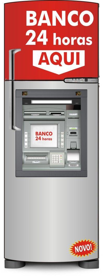 Envelopamento de Geladeira Banco 24 Horas - ENV0048