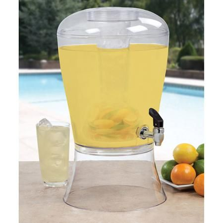 Creative Bath 3-Gallon Beverage Dispenser with Ice Cylinder and Fruit Infuser - Walmart.com