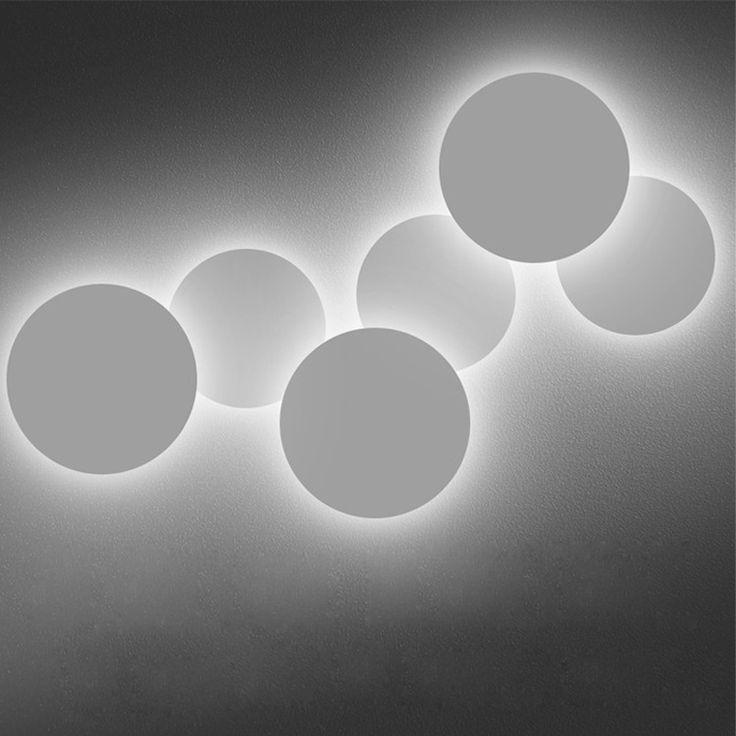 Современные Крытый настенные светильники светодиодные Творческий алюминия бра спальня ночники 4 Вт/18 Вт/28 Вт led освещение украшения для дома купить на AliExpress
