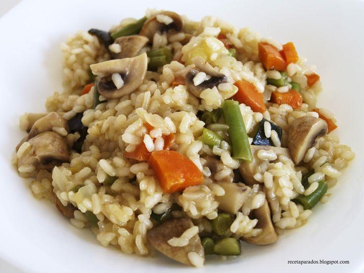 No dejéis de probar esta riquísima receta de cocina de arroz con verduras, ligera y muy fácil