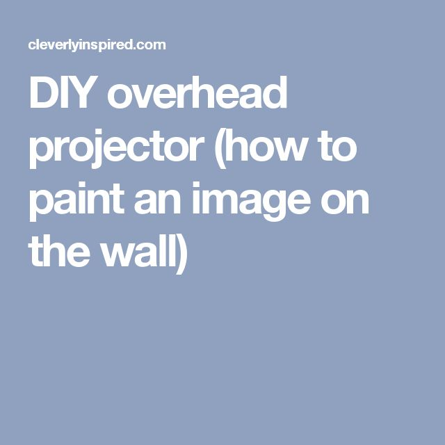 how to make an overhead projector