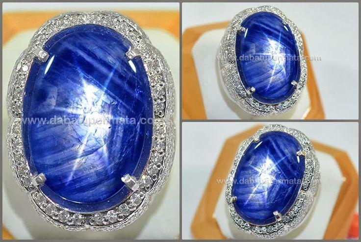 Batu Mulia Vivid Blue SAFIR Star Burma No Heat - SPS 188 - Batu Permata | Batu Mulia | Cincin Batu