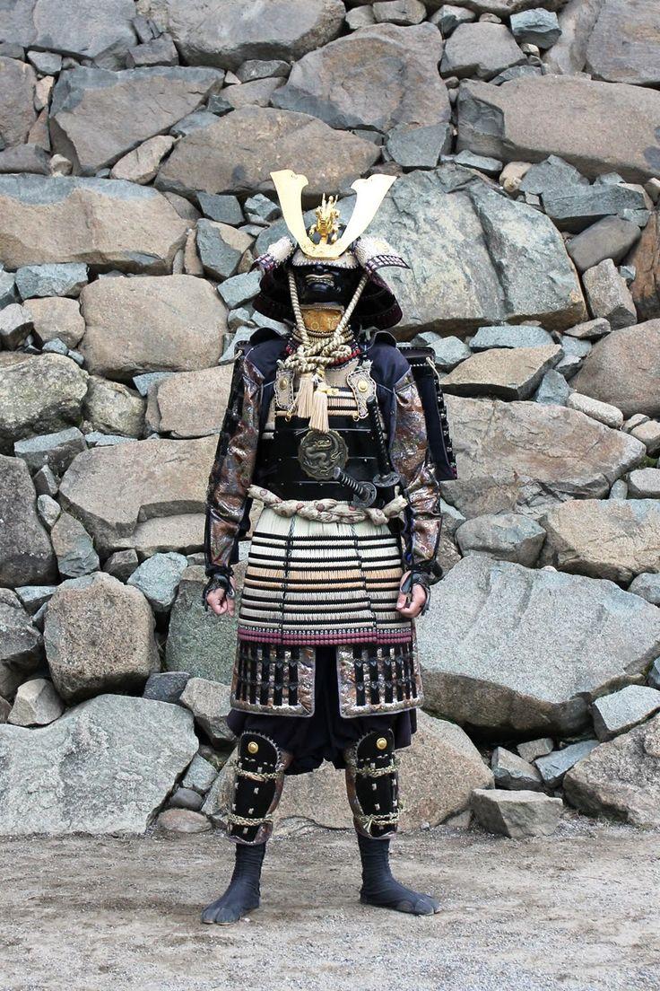 Samurai at Matsumoto castle, Japan