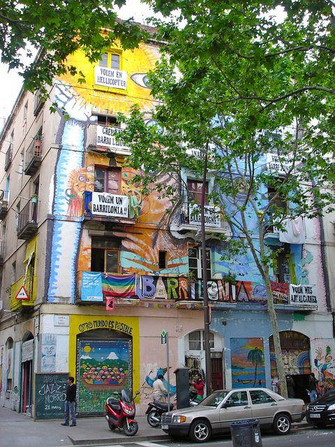 Mural House on Rambla del Raval, Barcelona