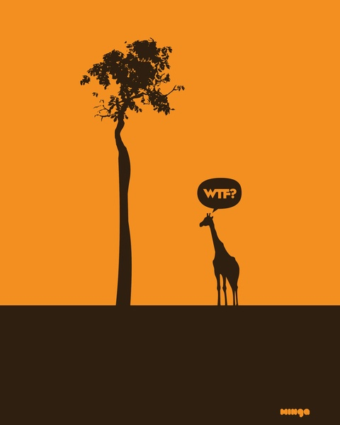 WTF? Jirafa! Art Print: Printestudio Minga, Wtf Posters, Giraffe, Art Prints, Posters Design, Graphics Design, Silly Animal, Www Estudiominga Com, Art Printestudio