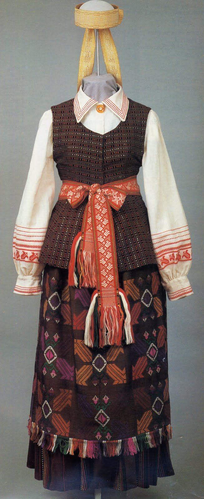 Costume of Kapsai region, Lithuania