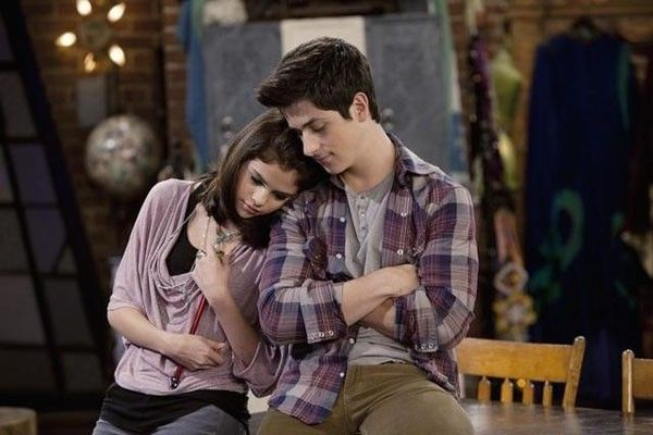 Selena Gomez and David Henrie as Alex Russo and Justin Russo