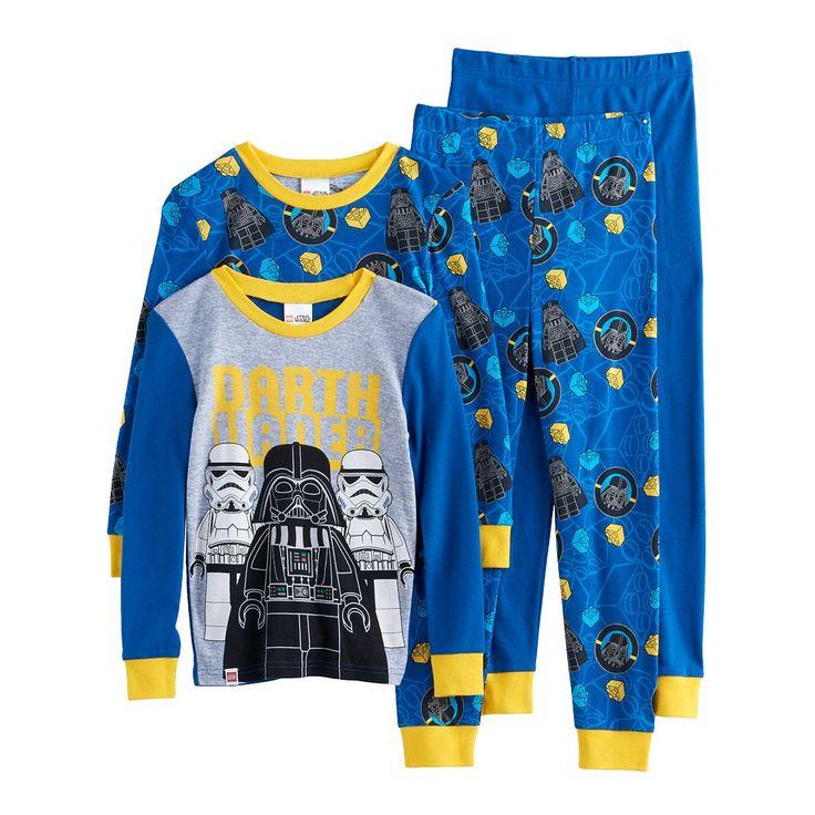 Boys 4-10 LEGO Star Wars Darth Vader 4-Piece Pajama Set, Size: 10, Blue Other
