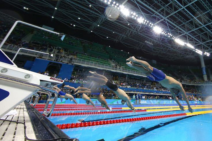 Michael Phelps (R) of the United States competes in the second Semifinal of the Men's 200m Butterfly on Day 3 of the Rio 2016 Olympic Games at the Olympic Aquatics Stadium on August 8, 2016 in Rio de Janeiro, Brazil.