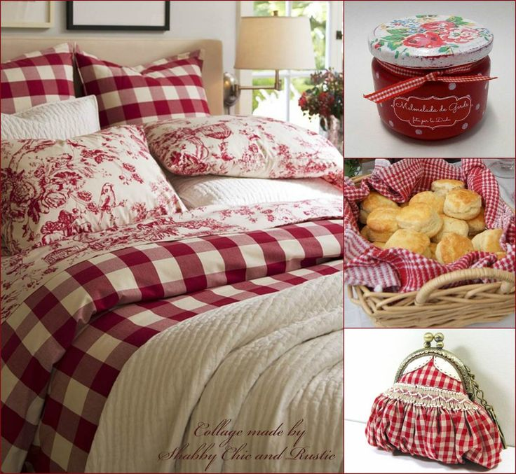 113 best Toile Decor images on Pinterest | Canvases, Toile and ... : red gingham quilt - Adamdwight.com