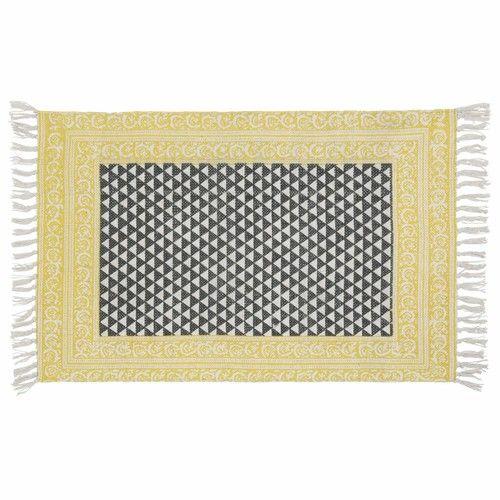 Tapis en coton noir/blanc 60 x 90 cm MEDAN 14.99 MAISONS DU MONDE