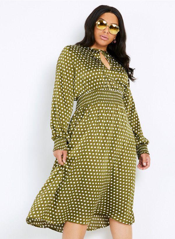 0033a18c485 Anna Scholz Plus Size Satin Keyhole Dress