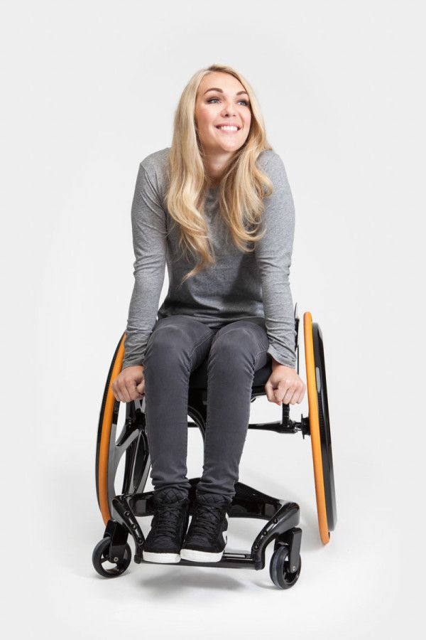 "i wish i had this for my grandmother :A Wheelchair That Might Disrupt the Industry Six years later, he created the Carbon Black, a clean and stylish wheelchair that's also minimalist and lightweight. Made out of carbon fiber, the chair was made with the motto ""more person, less chair."""