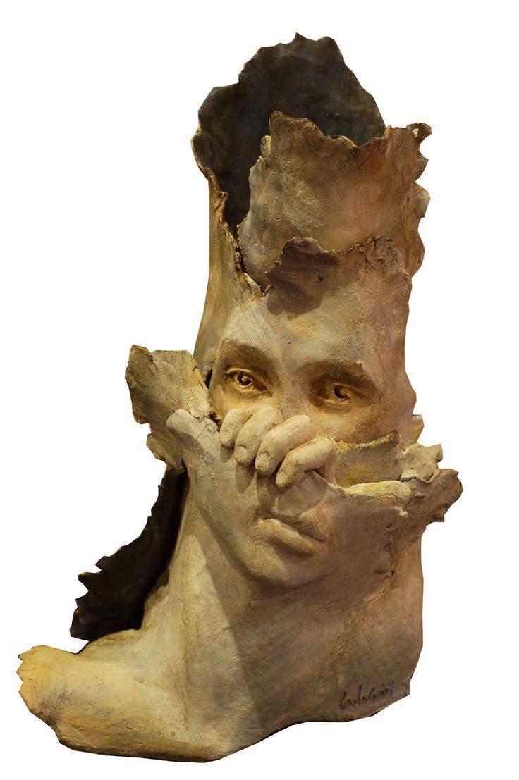 in-fondo - scultura in terracotta policroma, 2015