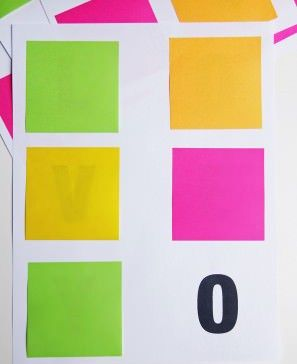 Partially Printed Post-It Wall Messages