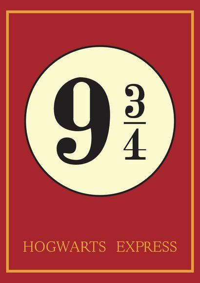 Poster 'Plataforma 9 ¾' com moldura