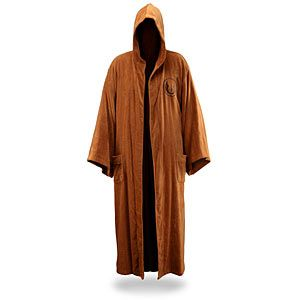 Jedi Bathrobe...also available in Sith! Bought it for my hubby, now I want one.