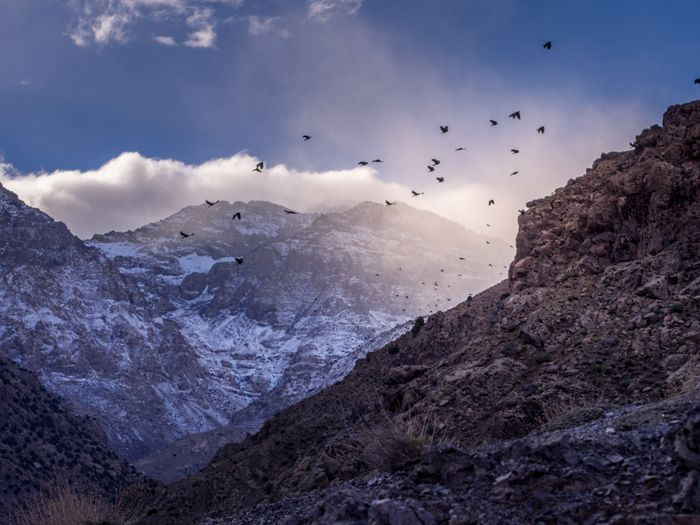 Atlas mountains at the dawn. (Imlil, Morocco )  Kotona ja kaukomailla: marokko