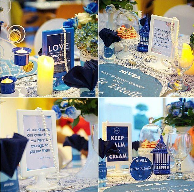 table decoration for Julie Estelle