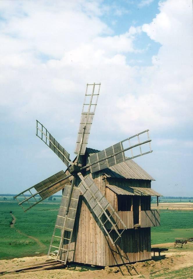 Danube Delta, Tulcea County, Dobrogea Windmill in Letea