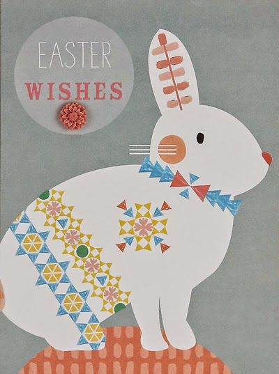 51 best easter images on pinterest print patterns pattern ms easter rabbit card negle Choice Image