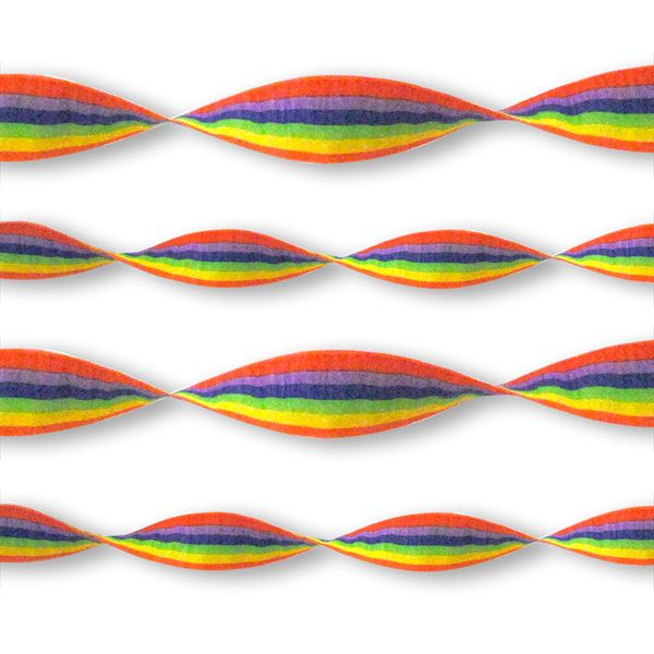 Rainbow Crepe Paper Streamer - 24m