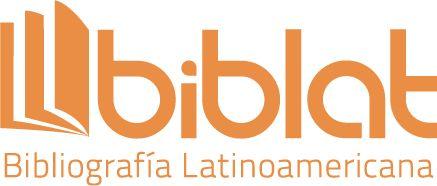 Logo de la base de datos BIBLAT. Bibliografía Latinoamericana en revistas de investigación científica y social- Dirección General de Bibliotecas, UNAM. Se autoriza su uso cuando la revista esté indizada en dicha base de datos.