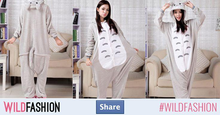 Cam cât de simpatică poate fi o astfel de pijama? Foarte simpatică! :) Dă un share dacă îți place!