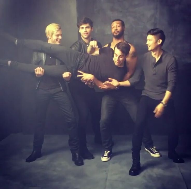 The leading men of Shadowhunters for People Magazine