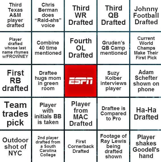 ESPN DRAFT BINGO