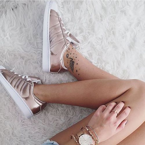 adidas superstar femme gold rose