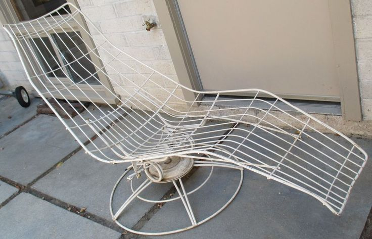 Vtg 50s 60s homecrest siesta lounge chair chaise mid for Chaise wire eames