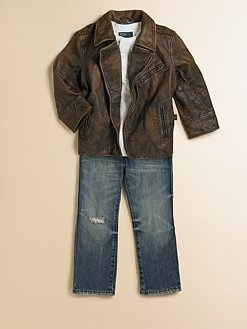 Ralph Lauren - Toddler's & Little Boy's Sierra Leather Jacket