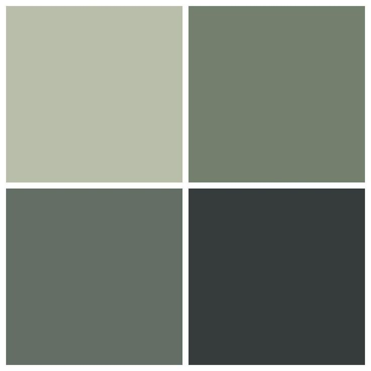 What a beautiful Farrow & Ball palette to work with today for a modern take on a country kitchen - Pigeon, Card Room Green, Green Smoke and Studio Green! #binghamfurnitureandhome #farrowandballpaint #farrowandball #paint #kitchendesign #countrykitchen #countrykitchendecor #cardroomgreen #pigeon #greensmoke #studiogreen #nottingham