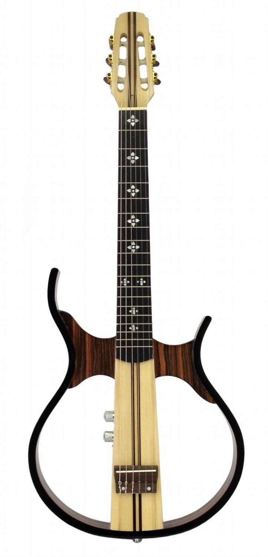 Amazon Com Musician S Supply Silent Acoustic Guitar Sandalwood Hollow Body Electric Headphones Included Musical Instru Acoustic Guitar Body Electric Guitar