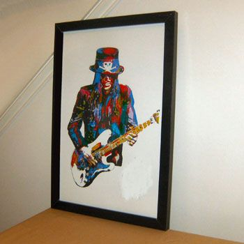 Mick Mars, Motley Crue, Lead Guitar, Guitarist Heavy Metal  --Original OIL painting--100% hand painted art --free shipping cost