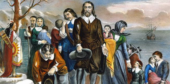 Did the pilgrims really gamble on Thanksgiving
