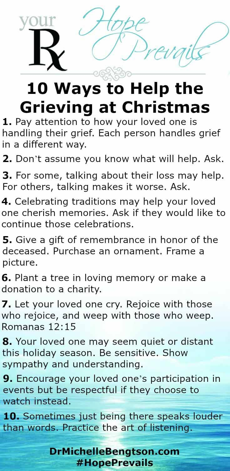 Ask Dr B Helping the Grieving at Christmas