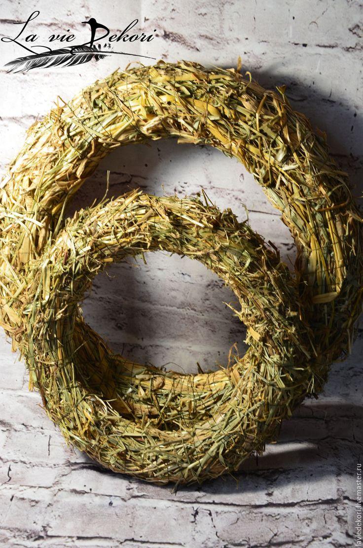 Купить Венок из сена - венок, венок из сена, натуральный материал, соломенный венок, венок из соломы
