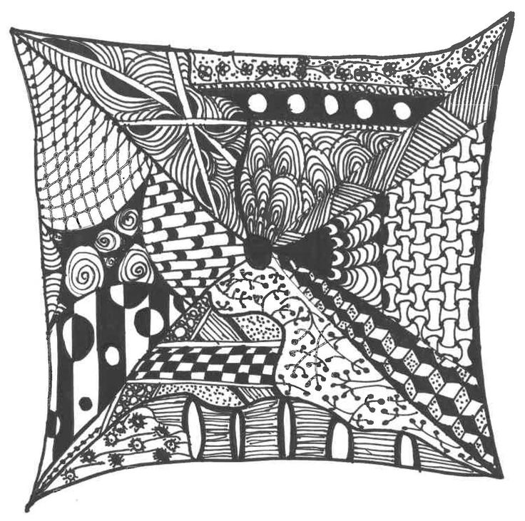 this is my first big zentangle!
