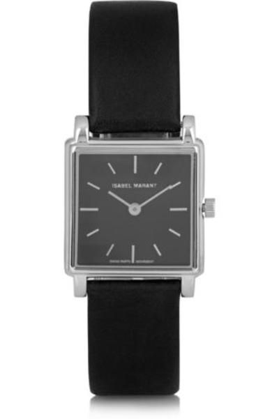 Stainless steel and leather watch #accessories #covetme #isabelmarant