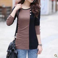 Online Shop 2014 осень с длинным рукавом Большой размер женщин осень модели рубашки женские цвет блок женщин капюшоном толстовки @|Aliexpress Mobile