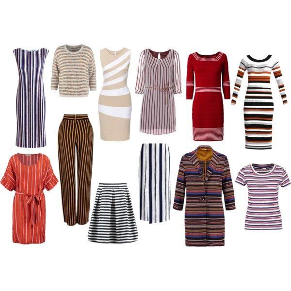 love stripes for autumn type of beauty by colour-code on Polyvore featuring moda, Sisley, Stine Goya, Karen Millen, Anna Field, Taifun and Kiomi