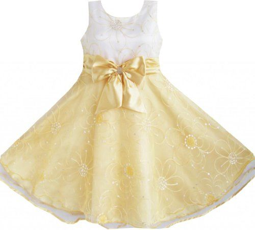 DR52 Girls Dress Champagne Embroider Flower Tulle Pageant Child Boutique Size 6/6x Sunny Fashion,http://www.amazon.com/dp/B00E2XDIU0/ref=cm_sw_r_pi_dp_7UfDsb01Q6A1RWVV