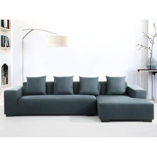 Contemporary Sectional Sofa in Fabric (Left or Right Facing) - LUNGO | Overstock.com Shopping - The Best Deals on Sectional Sofas