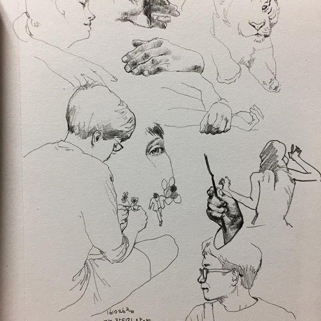 이럴때도있고저럴때도있고 #취미 #낙서 #손 #그림 #hobby #doodle #drawing #hand