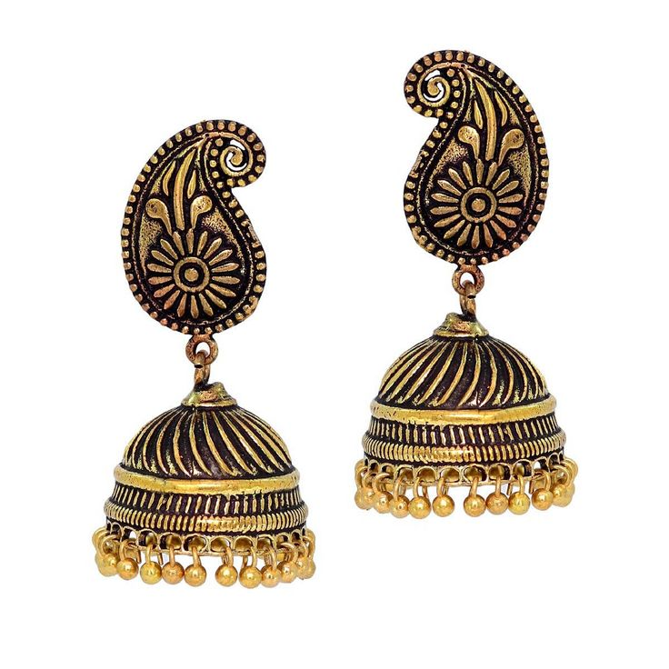 Oxidised #Earrings on #Instacraze. Sparkling Gehna collection at just $15.00