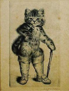 リアルキャットの長靴をはいた猫のイラスト