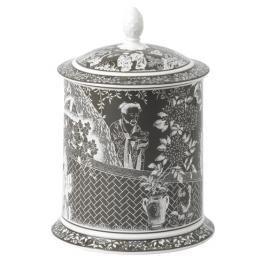 Royal Crown Derby Mikado Taupe Storage Jar 35oz